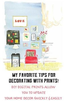 How to decorate with prints! Image by Virginia Johnson. Click on pic for full post!
