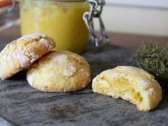 Crinkles au citron coeur de lemon curd - par Dans la cuisine de Laurie
