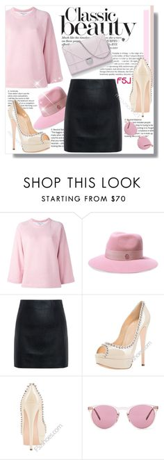 """FSJ"" by jenny007-281 ❤ liked on Polyvore featuring YMC, Maison Michel, McQ by Alexander McQueen, Oliver Peoples and fsjshoes"