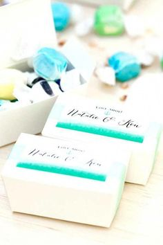 (Used in this project: Ballotin Favor Box with Labels in Color Wash style.) Planning a wedding on a budget, as many of us do, calls for some creativity Affordable Wedding Favours, Wedding Favours Luxury, Winter Wedding Favors, Candy Wedding Favors, Custom Wedding Favours, Wedding Favor Boxes, Unique Wedding Favors, Bridal Shower Favors, Budget Wedding