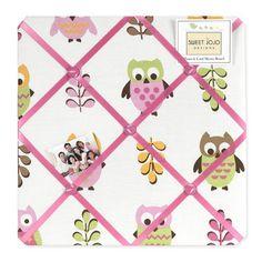 Pink Happy Owl Fabric Memory/Memo Photo Bulletin Board by... https://www.amazon.com/dp/B006WAF1OM/ref=cm_sw_r_pi_dp_x_J3kQxbSK64AX0