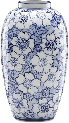 Floral Vase, blue and white, blommig vas i blått och vitt. Floral Vase, blue and white, floral vase in blue and white. Porcelain Jewelry, Porcelain Ceramics, Ceramic Vase, Fine Porcelain, Pottery Painting Designs, Pottery Designs, China Painting, Ceramic Painting, Delft
