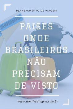 Sabia que existem mais de uma centena de países que não exigem visto para brasileiros? É uma ótima opção pra quem não quer perder tempo e dinheiro cumprindo burocracia.