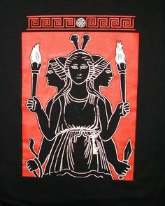 Hecate goddess of magic, witchcraft, the night, moon, ghosts and necromancy