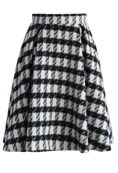 Fancy Check Print Woolen Pleated Skirt - New Arrivals - Retro, Indie and Unique Fashion