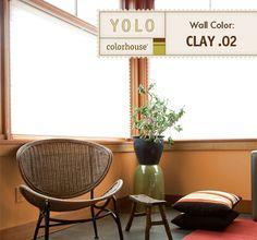 YOLO Colorhouse Clay.02 orange living room