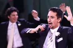 """Hamilton"" creator and star Lin-Manuel Miranda performing ""To Life! (L'Chaim!) from ""Fiddler on the Roof"" at his wedding in 2010. (Screenshot from YouTube)"