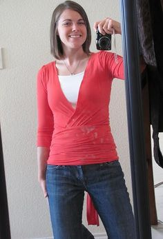 Wrap Yourself Top -- This is a great DIY and I love the top, I just haven't really figured out how to sew with stretchy knit fabric yet. One day...