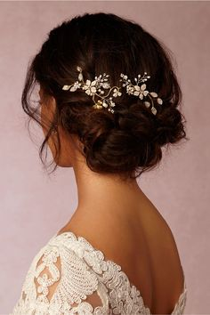 BHLDN Winter Garden Combs in  Bride Veils & Headpieces Pins, Clips & Combs at BHLDN
