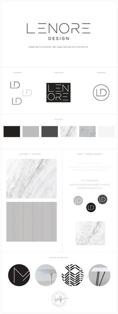 Brand Launch: Lenore Interior Design - Salted Ink Design Co. - Brand Launch: Lenore Interior Design – Salted Ink Design Co. Great Logo Design, Graphisches Design, Layout Design, Corporate Design, Brand Identity Design, Brand Design, Design Brochure, Graphic Design Branding, Interior Design Logos