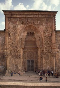 North portal and main entrance to the Great mosque of Divriği