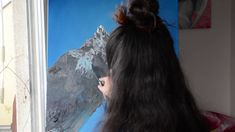 Himalayas. Mount Everest Time-lapse art process - YouTube Oil Paintings, Original Paintings, Song Of Style, Process Art, Mount Everest, Long Hair Styles, Face, Artist, Youtube