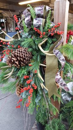 Welcome to Andy's Christmas Eve, Christmas Ideas, Christmas Wreaths, Vestavia Hills, Deer Antlers, Saddles, Garden Supplies, Mailbox, Pine Cones