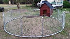 Old Trampoline Frame Chicken Coop