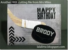 Need a FREE cutting file for your Silhouette Cameo for the someone in your life who's a hockey fan?