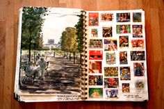 cool ideas for sketchbooks, journal/travel book