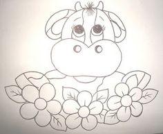 vaca com flores