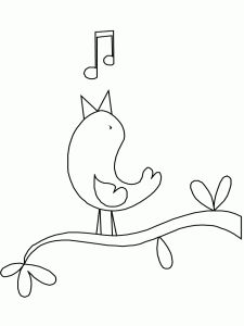 Free Printable Canary Coloring Page