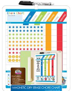 chore chart ideas for kids - REALLY like the dry erase one with the rules and calendar (but it's missing chores/responsibilities)