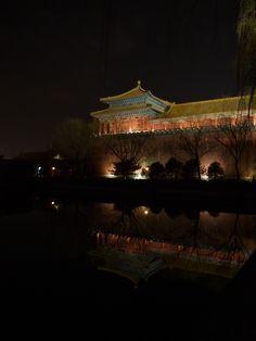 Forbidden City at noght - Beijing.