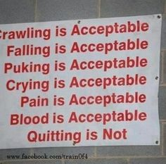 I pretty much did all of these minus the blood thing when I started asylum, but QUITTING is not an option!!!!