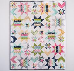 Moda Super Star Quilt Kit - White