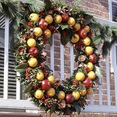 Holiday Wreath of Colonial Williamsburg - Nature's Jewels (Inspiration Only)