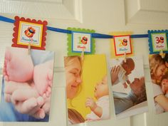 First Year Photo Clips, First Year Banner, Car Birthday Party, Any Theme via Etsy