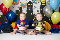 Idaho Falls, ID baby and child TWINS birthday photographer. Caralee Case…