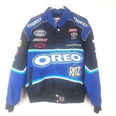 Dale Earnhardt Jr NASCAR Chase Authentics Mens Medium Racing Jacket Oreos O401