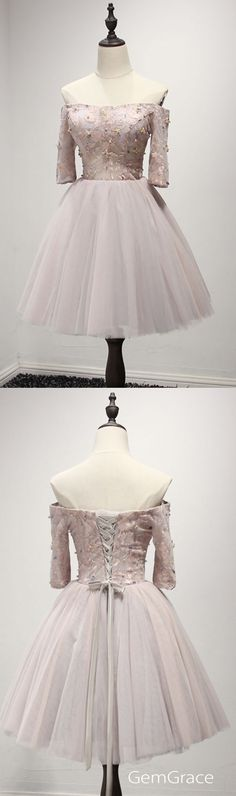 off shoulder short party dress for homecoming