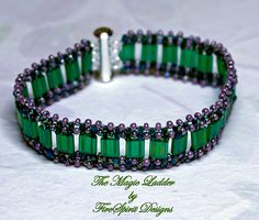 The Magic Ladder- handmade, ooak, beadwoven bracelet by FireSpirit Designs, $35.00