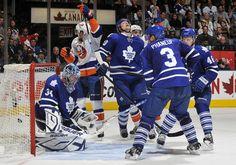 Matt Moulson celebrates a 3rd period goal against the Leafs on 3/20/2012
