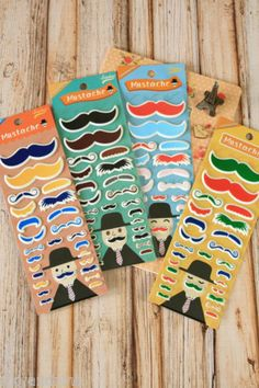 kawaii Happiness MUSTACHE assorted colour embossed puffy cartoon deco stickers | eBay