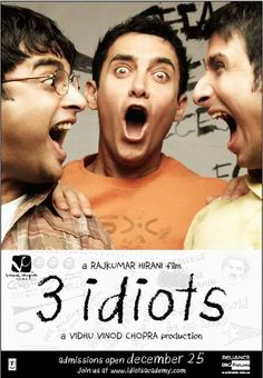 3 Idiots.  Surprisingly delightful movie. LaUgh & cry buckEts in one movie.  ALL IS WELL...