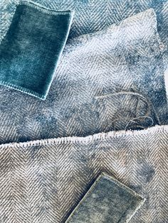 Velours lavé Tsar vert canard Saint James, Coups, Bleu Marine, Upholstery, Fabrics, Cushions, Curtains, Detail, Lush