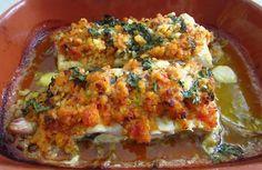 Bacalhau no forno com tomate   Food From Portugal
