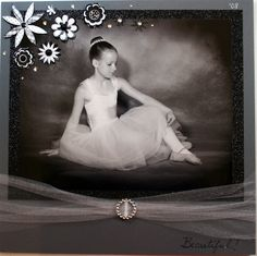 black and white dance ballerina sports scrapbook page layout