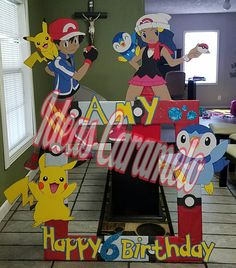 "Pokemon's frame and figures to the party $100 all Photo frame 42""×42"""