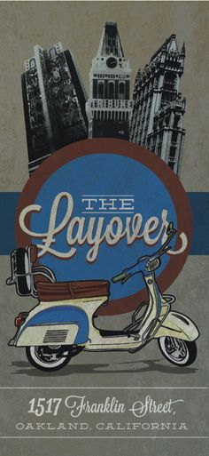 Postcard design by Holt Designs' Jonathan Holt for The Layover