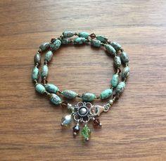 Double Wrap Turquoise Bracelet Sacred Artwear by SacredArtwear
