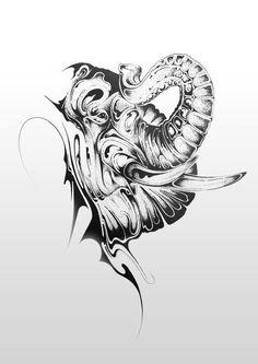 si scott- elephant. my tattoo for mom :)