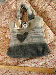 Hear tFelt Love   Recycled knitwear handbag by ElizaTootsweet, £17.00