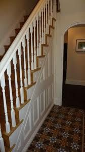 victorian painted staircase spindles - Google Search