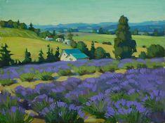 Artist Lavender Painting 2011:  Oregon Lavender Destinations Paint Out
