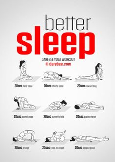 Better Sleep Yoga Workout ähnliche tolle Projekte und Ideen wie im Bild vorgest. Better Sleep Yoga Workout Similar great projects and ideas as shown in the picture you'll also find in our magazine. We are looking forward to your visit. Fitness Workouts, Yoga Fitness, Fitness Motivation, Health Fitness, Yoga Workouts, Bed Exercises, Quick Workouts, Women's Health, Killer Ab Workouts