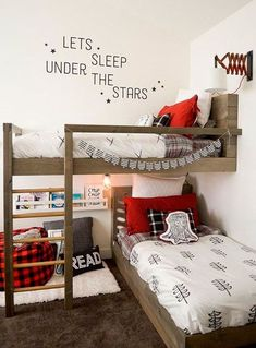 7 Shared Bedroom Hacks That Will Make Everyone Happy Bunk Beds For Boys Room, Bunk Bed Rooms, Cool Bunk Beds, Kid Beds, Girl Room, Best Bunk Beds, Bed Ideas For Kids, Bunk Bed Ideas For Small Rooms, Ikea Bunk Bed Hack