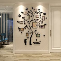 Frame Tree Wall Stickers Muslim Vinyl Home Stickers Wall Decor Decals @ VOVA Frame Tree Wall Sticker Family Tree Wall Decor, Tree Branch Decor, Room Wall Decor, Diy Wall Decor, Home Decor Bedroom, Baby Bedroom, Wall Decor Design, Flur Design, Wall Decor Stickers