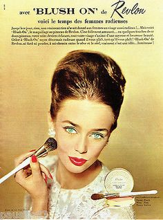 "Revlon ""Blush On"" Cosmetics Ad, 1964"