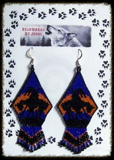 Native American Beaded End of the Trail Earrings